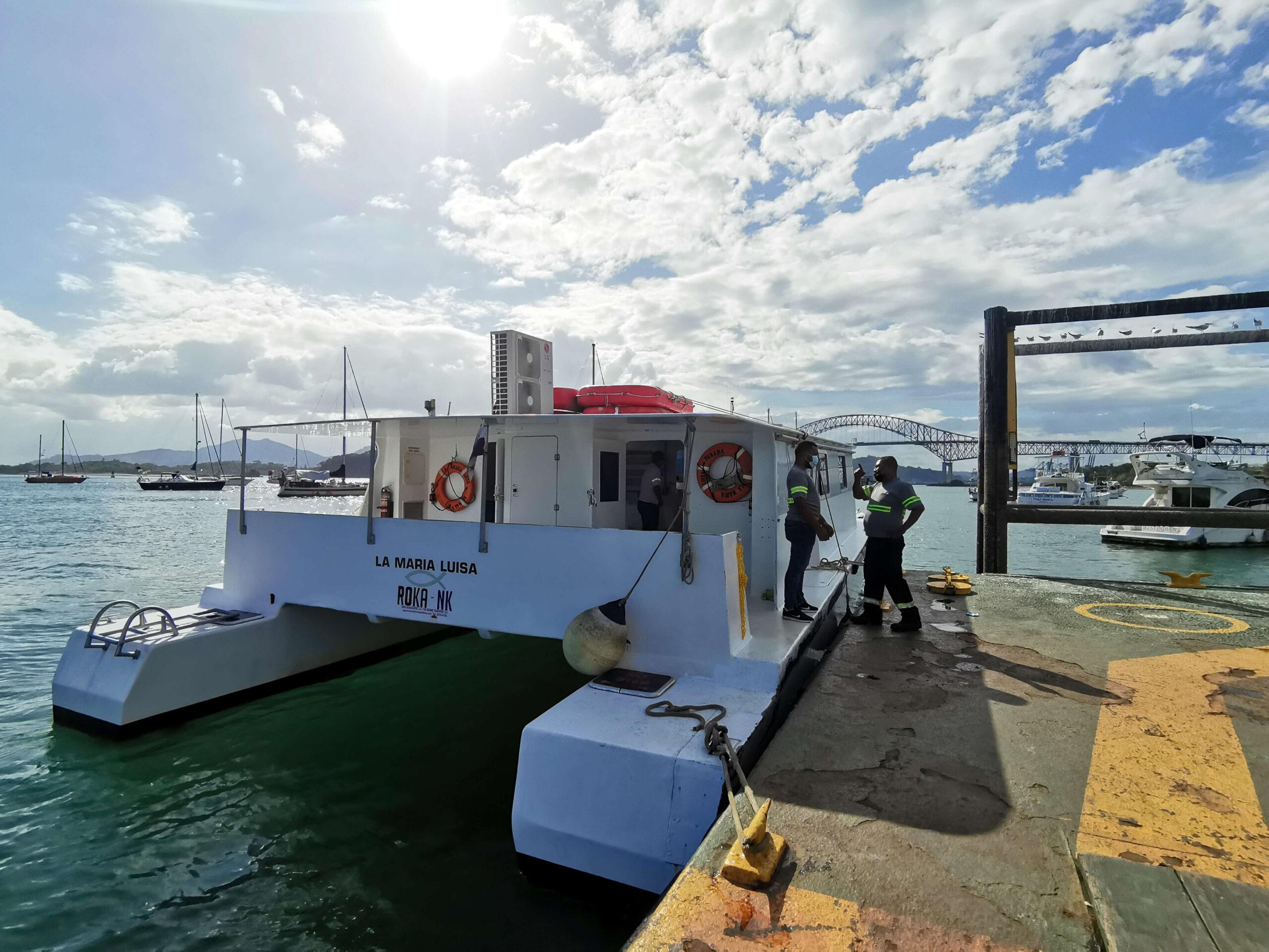 Partimos a bordo del Ferry Roka Panamá,